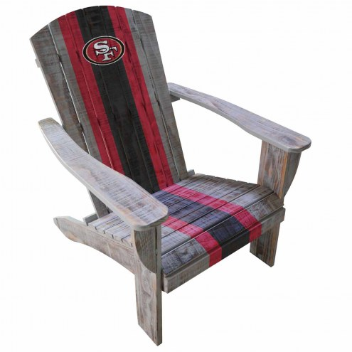 San Francisco 49ers Wooden Adirondack Chair