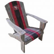 San Francisco 49ers Wooden Adirondack Chair