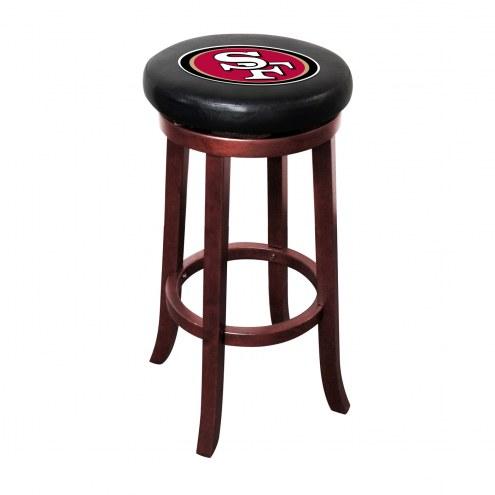 San Francisco 49ers Wooden Bar Stool