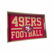 San Francisco 49ers Wooden Serving Tray
