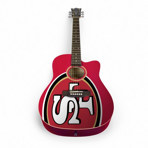 San Francisco 49ers Woodrow Acoustic Guitar