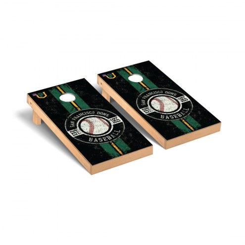 San Francisco Dons Baseball Vintage Cornhole Game Set