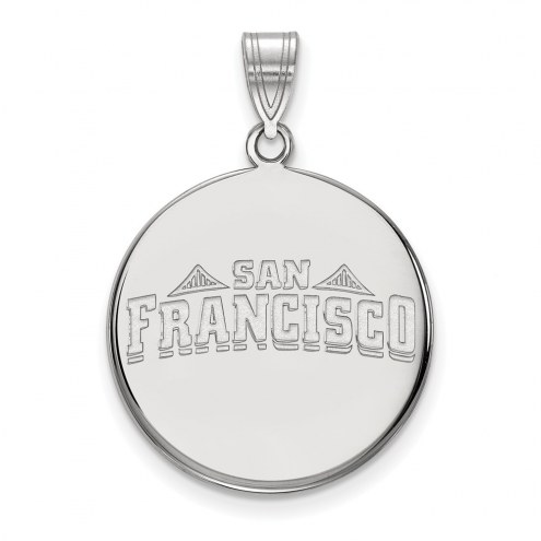 San Francisco Dons Sterling Silver Large Disc Pendant