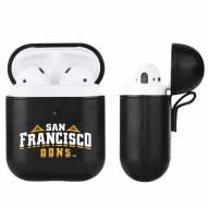 San Francisco Dons Fan Brander Apple Air Pods Leather Case