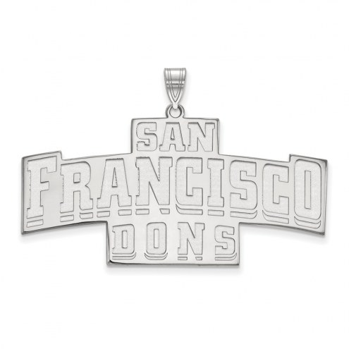 San Francisco Dons Sterling Silver Extra Large Enameled Pendant