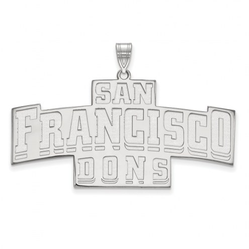 San Francisco Dons Sterling Silver Extra Large Pendant