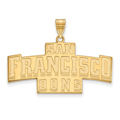San Francisco Dons Sterling Silver Gold Plated Large Pendant