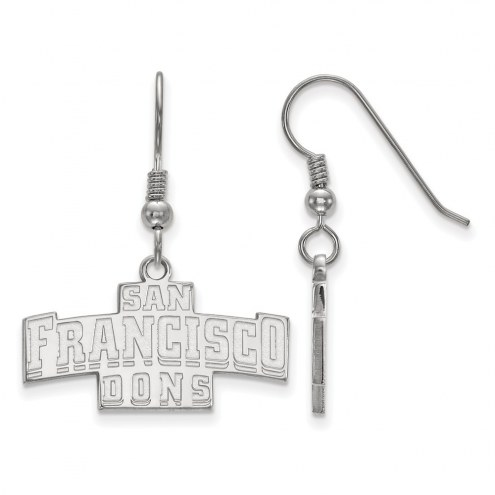 San Francisco Dons Sterling Silver Small Dangle Earrings