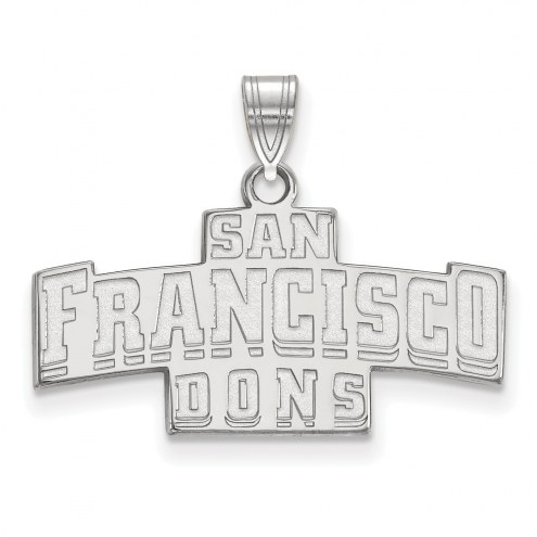 San Francisco Dons Sterling Silver Small Pendant