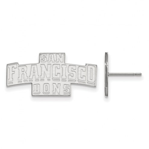 San Francisco Dons Sterling Silver Small Post Earrings