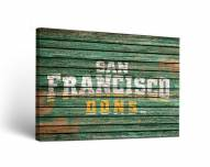 San Francisco Dons Weathered Canvas Wall Art