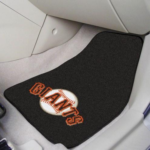 San Francisco Giants 2-Piece Carpet Car Mats