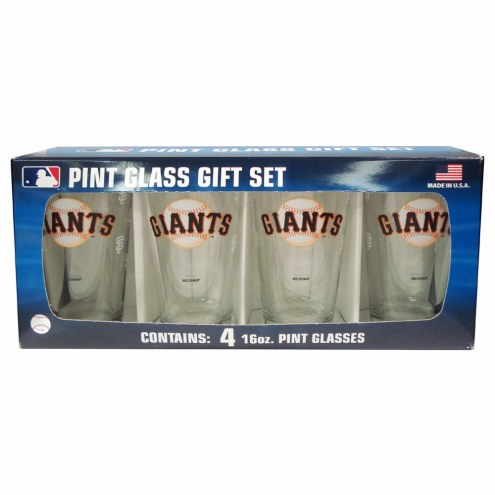 San Francisco Giants 4 Pack Pint Glass Set