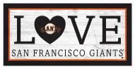 "San Francisco Giants 6"" x 12"" Love Sign"