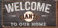 """San Francisco Giants 6"""" x 12"""" Welcome Sign"""