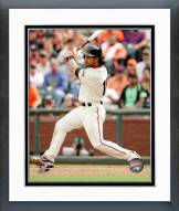 San Francisco Giants Angel Pagan Action Framed Photo
