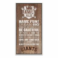 San Francisco Giants Family Rules Icon Wood Framed Printed Canvas