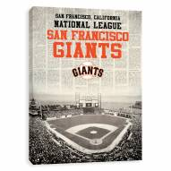 San Francisco Giants Newspaper Stadium Printed Canvas