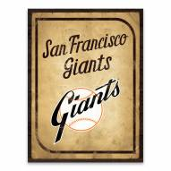 San Francisco Giants Vintage Card Printed Canvas
