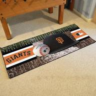 San Francisco Giants Baseball Runner Rug