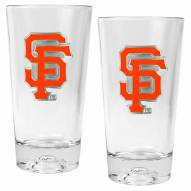 San Francisco Giants Baseball Sculpted Bottom Pint Glass Set