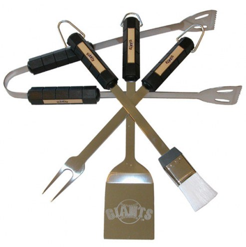 San Francisco Giants 4-Piece Stainless Steel BBQ Set