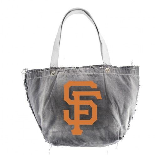 San Francisco Giants Black MLB Vintage Tote Bag