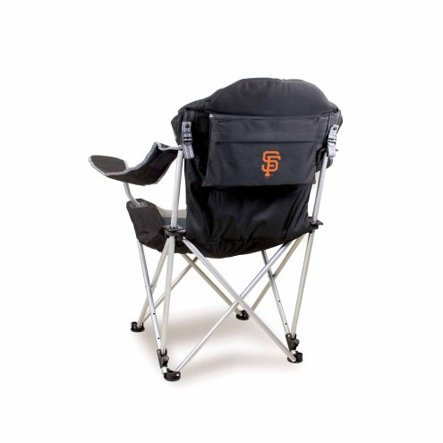 San Francisco Giants Black Reclining Camp Chair