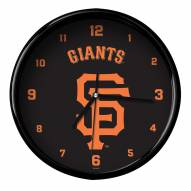 San Francisco Giants Black Rim Clock