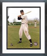 San Francisco Giants Bobby Thomson Posed with Bat Framed Photo