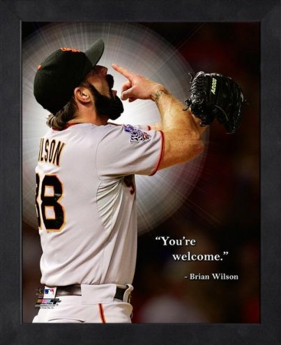 San Francisco Giants Brian Wilson Framed Pro Quote