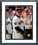 San Francisco Giants Bruce Bochy World Series Championship Trophy Framed Photo