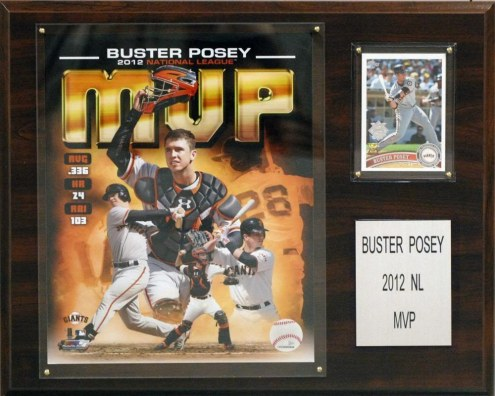 """San Francisco Giants Buster Posey 2012 MVP 12"""" x 15"""" Player Plaque"""