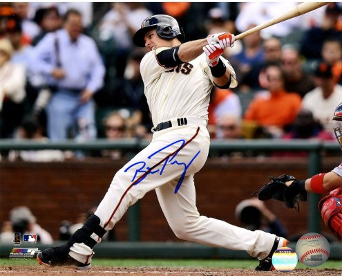 San Francisco Giants Buster Posey Signed Swinging 8 x 10 Photo