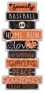San Francisco Giants Celebrations Stack Sign