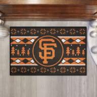 San Francisco Giants Christmas Sweater Starter Rug