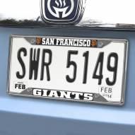 San Francisco Giants Chrome Metal License Plate Frame