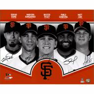 """San Francisco Giants Collage (Signed by Posey, Sandoval, Cain, Romo and Bumgarner) Signed 16"""" x 20"""" Photo"""