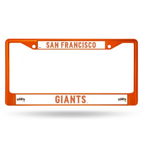 San Francisco Giants Color Metal License Plate Frame