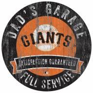 San Francisco Giants Dad's Garage Sign