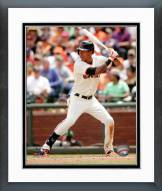 San Francisco Giants Ehire Adrianza Action Framed Photo