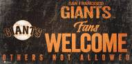 San Francisco Giants Fans Welcome Sign