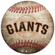 San Francisco Giants Baseball Shaped Sign