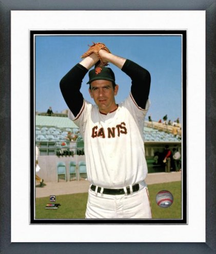 San Francisco Giants Gaylord Perry Ball in Glove Framed Photo