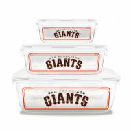 San Francisco Giants Glass Food Container Set