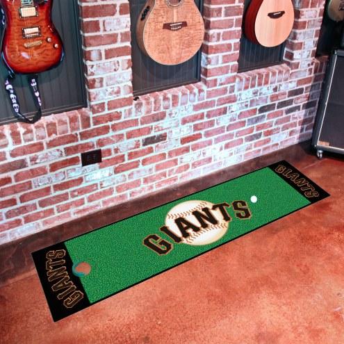 San Francisco Giants Golf Putting Green Mat