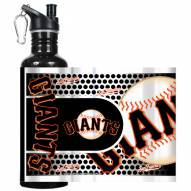 San Francisco Giants Hi-Def Black Stainless Steel Water Bottle