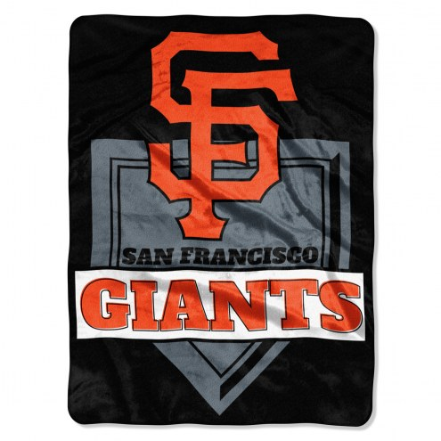 San Francisco Giants Home Plate Plush Raschel Blanket
