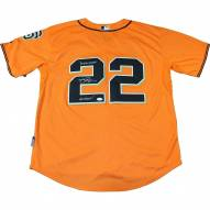 San Francisco Giants Jake Peavy Signed Signed Jersey w/ 14 WS Champs & Go Giants!