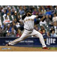 """San Francisco Giants Johnny Cueto Pitching Signed 16"""" x 20"""" Photo"""